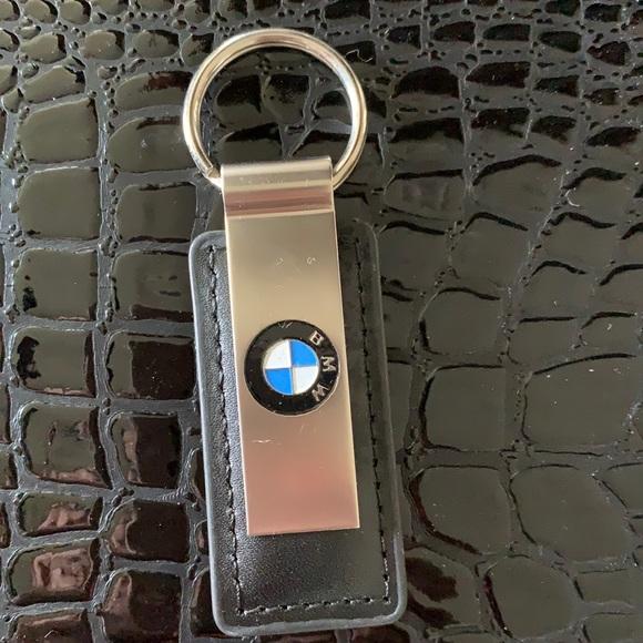 BMW leather keychain